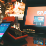 spark epos system in a restaurant with spark PDQs in front