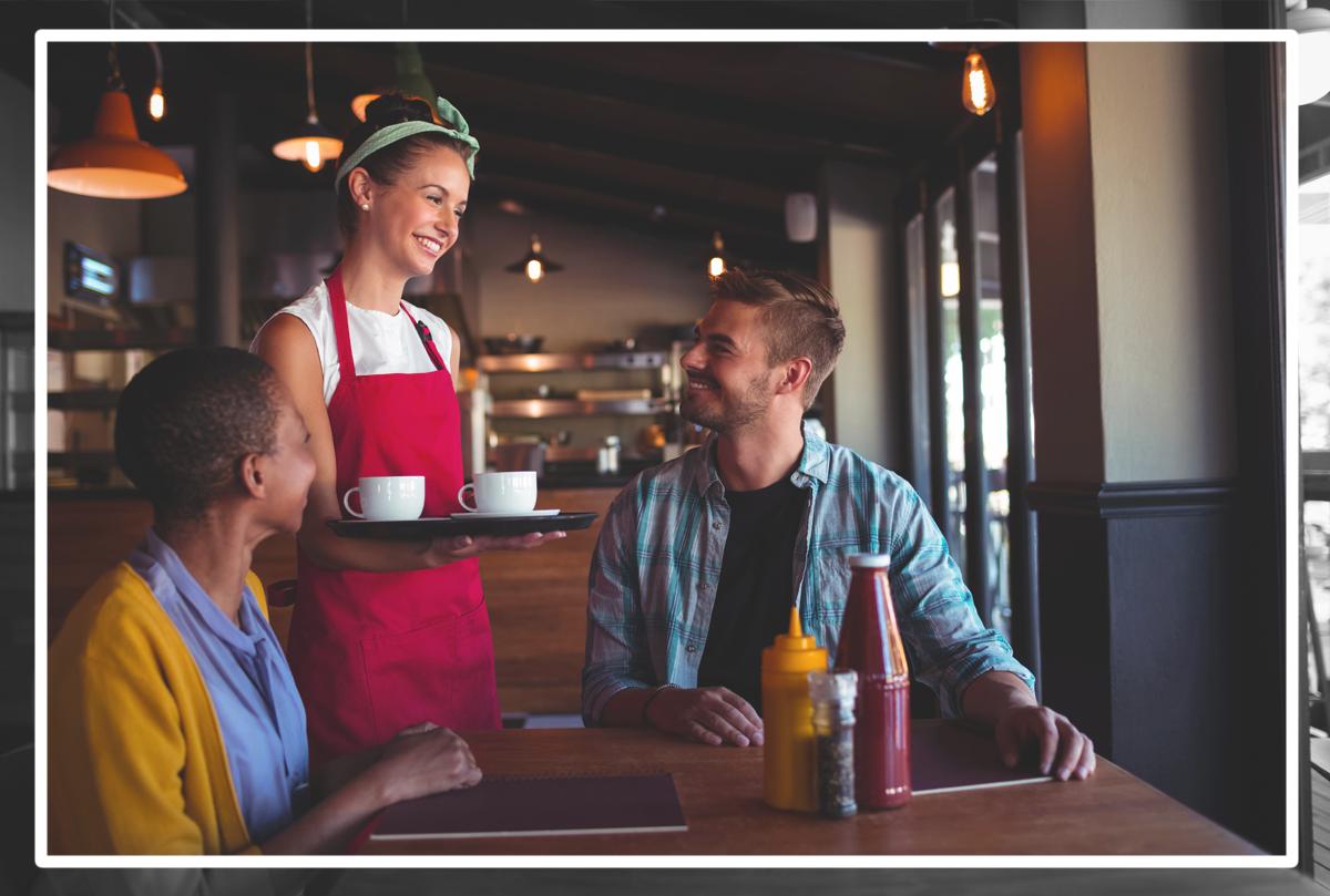 SPARK EPOS - Customer Experience, Waitress waiting on Customers
