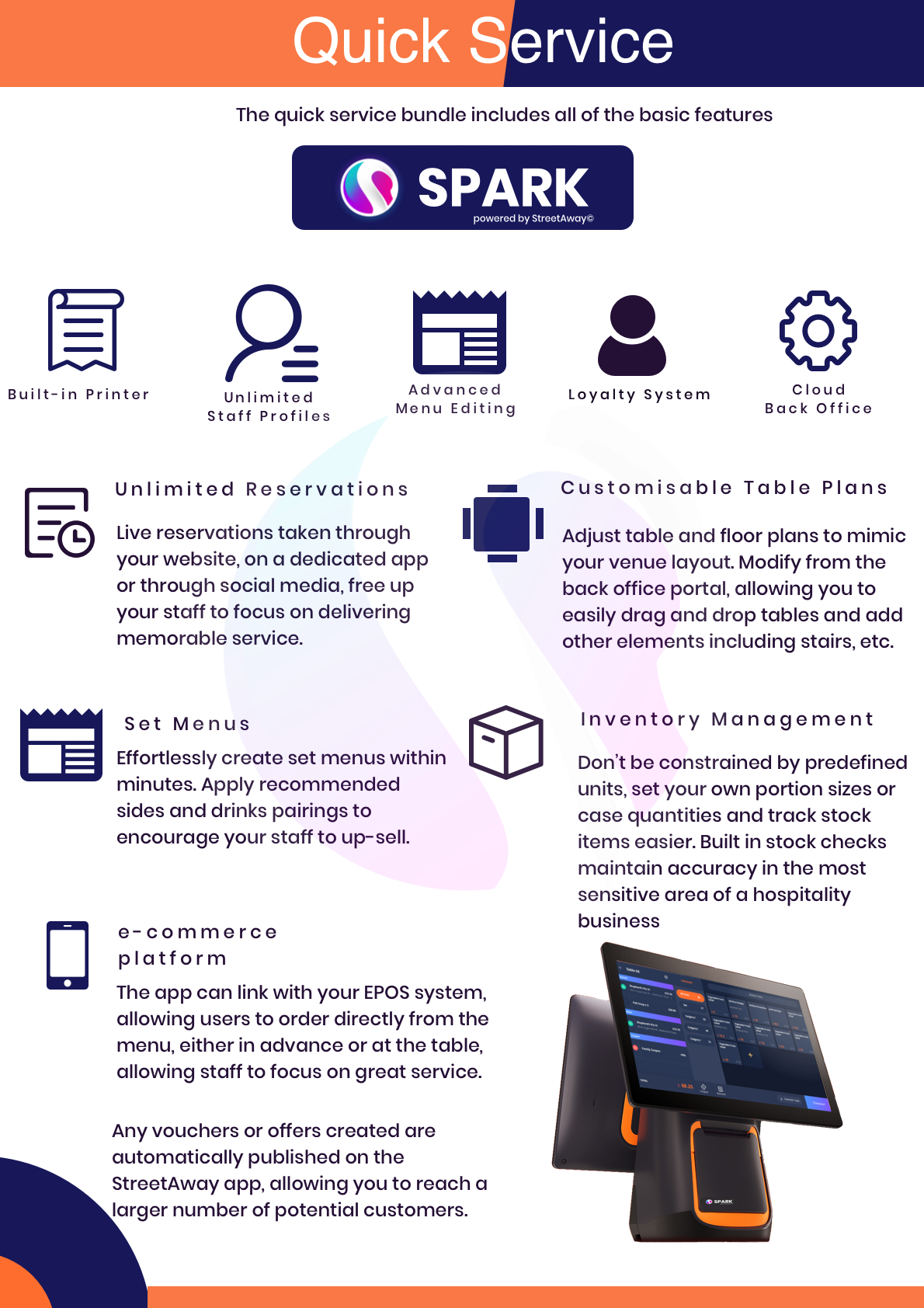 spark quick service bundle summary of features